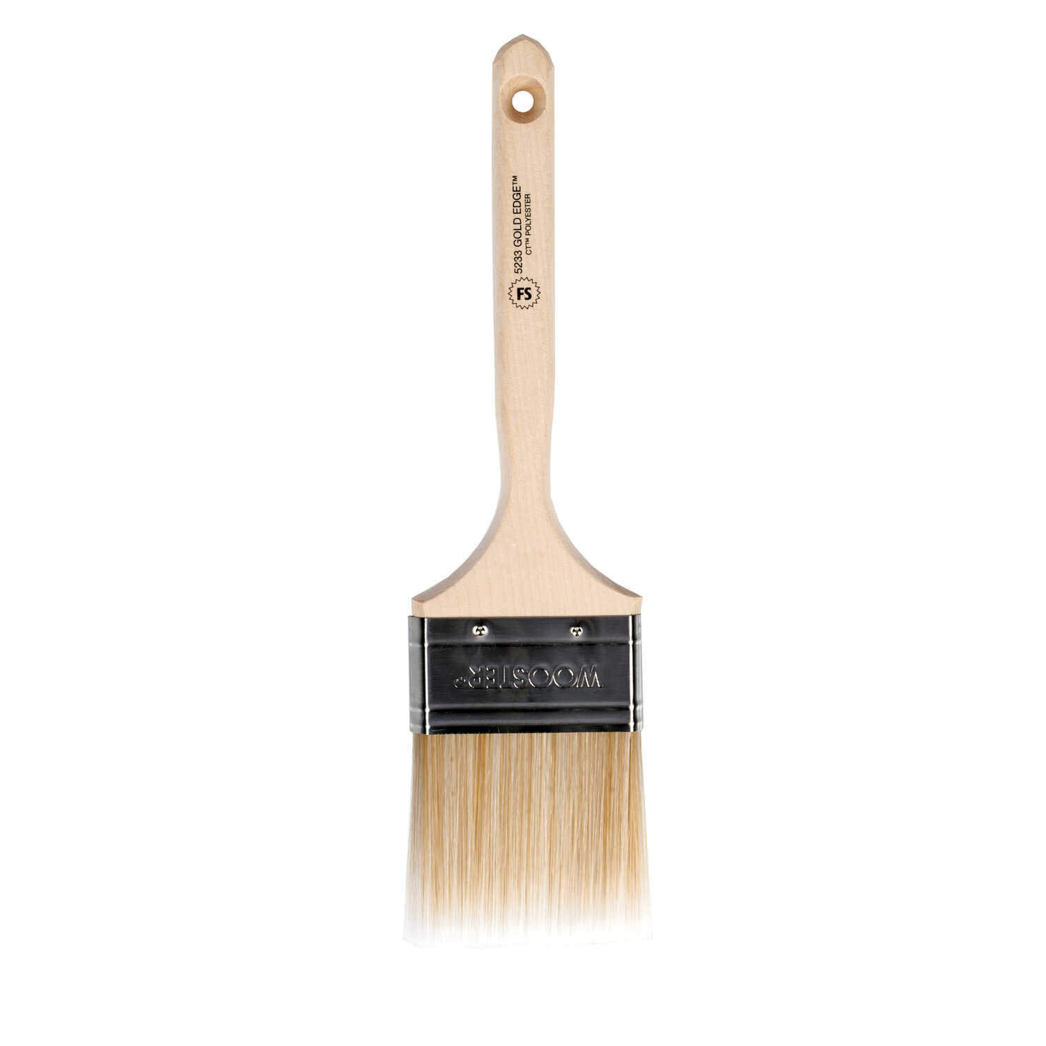 Wooster  Gold Edge  3 in. W Flat  Polyester Blend  Paint Brush