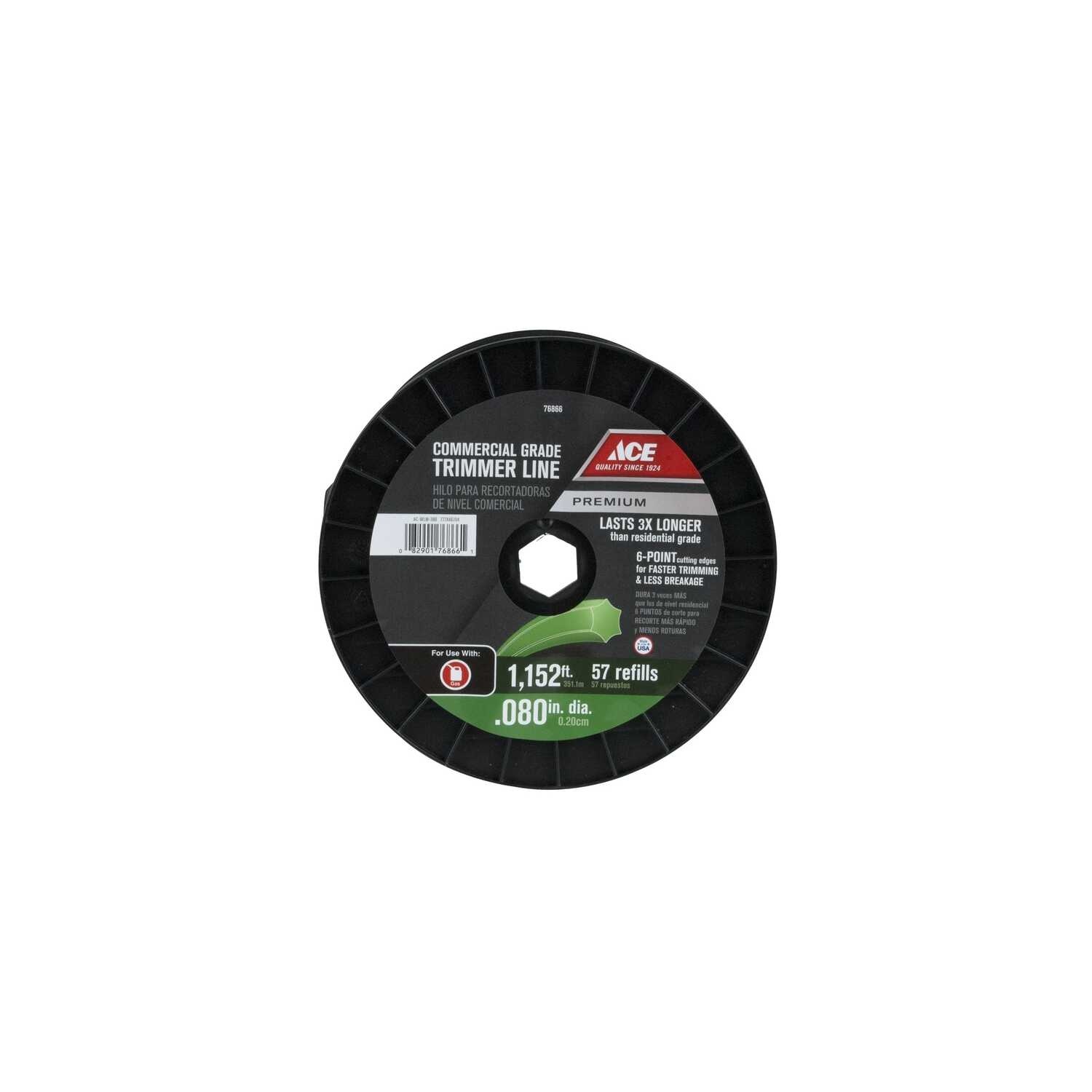 Ace  Premium  Commercial Grade  0.080 in. Dia. x 1152 ft. L Trimmer Line