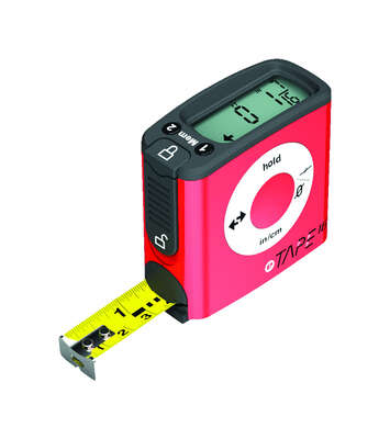 eTape  Digital  16 ft. L x 3 in. W Tape Measure  Red  1 pk
