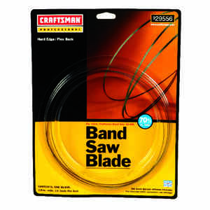 Craftsman  70.5 in. L x 0.1 in. W x 0.03 in.  Carbon Steel  Band Saw Blade  14 TPI Regular teeth 1 p