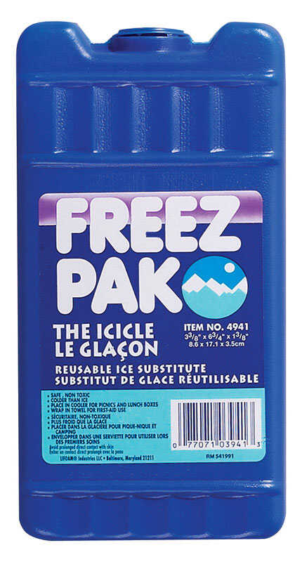 Freez Pak  The Icicle  Lunch Bag Cooler  16 oz. Blue