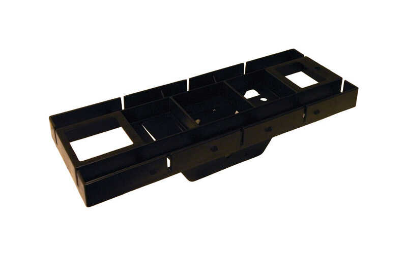 Gibraltar Mailboxes  Gibraltar Mailboxes  Black  Polymer  Mounting Hardware  3-1/2 in. H x 17 in. L