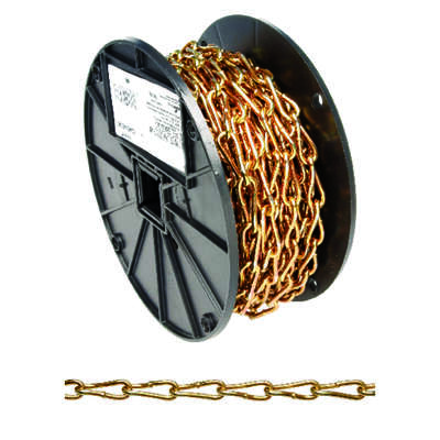 Campbell Chain  No. 3 in. Twist Link  Carbon Steel  Coil Chain  9/64 in. Dia. x 50 ft. L