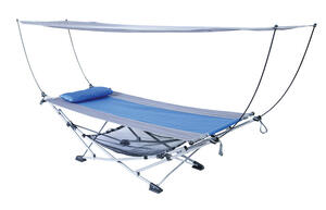 Mac Sports  26.4 in. W x 91.3 in. L Blue  Portable Hammock  With Stand