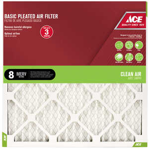 Ace  24 in. H x 16 in. W x 1 in. D Pleated  Air Filter