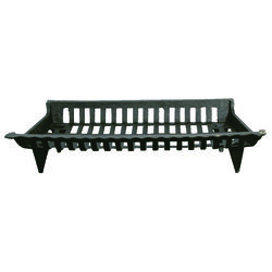 Open Hearth  Black  Cast Iron  Fireplace Grate