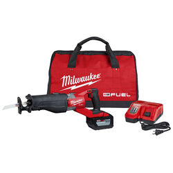 Milwaukee M18 FUEL SUPER SAWZALL 18 volt Cordless Brushless Reciprocating Saw Kit (Battery & Ch