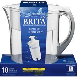 Brita  Grand  10  White  Water Filtration Pitcher