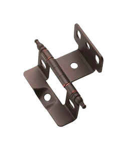 Amerock  1-5/8 in. W x 2-7/8 in. L Oil Rubbed Bronze  Steel  Cabinet Hinge  1 pk