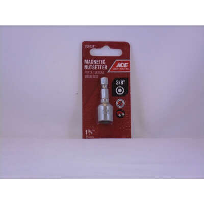 Ace 3/8 in. drive x 1-3/4 in. L Chrome Vanadium Steel Magnetic Nut Setter 1 pc.