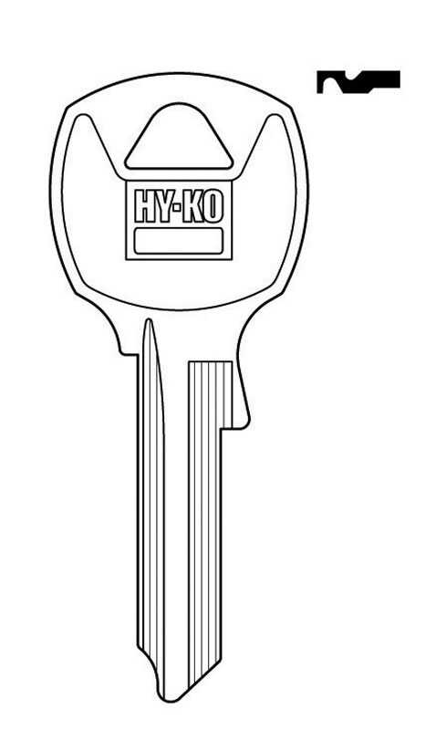 Hy-Ko  Automotive  Key Blank  Single sided For For National locks