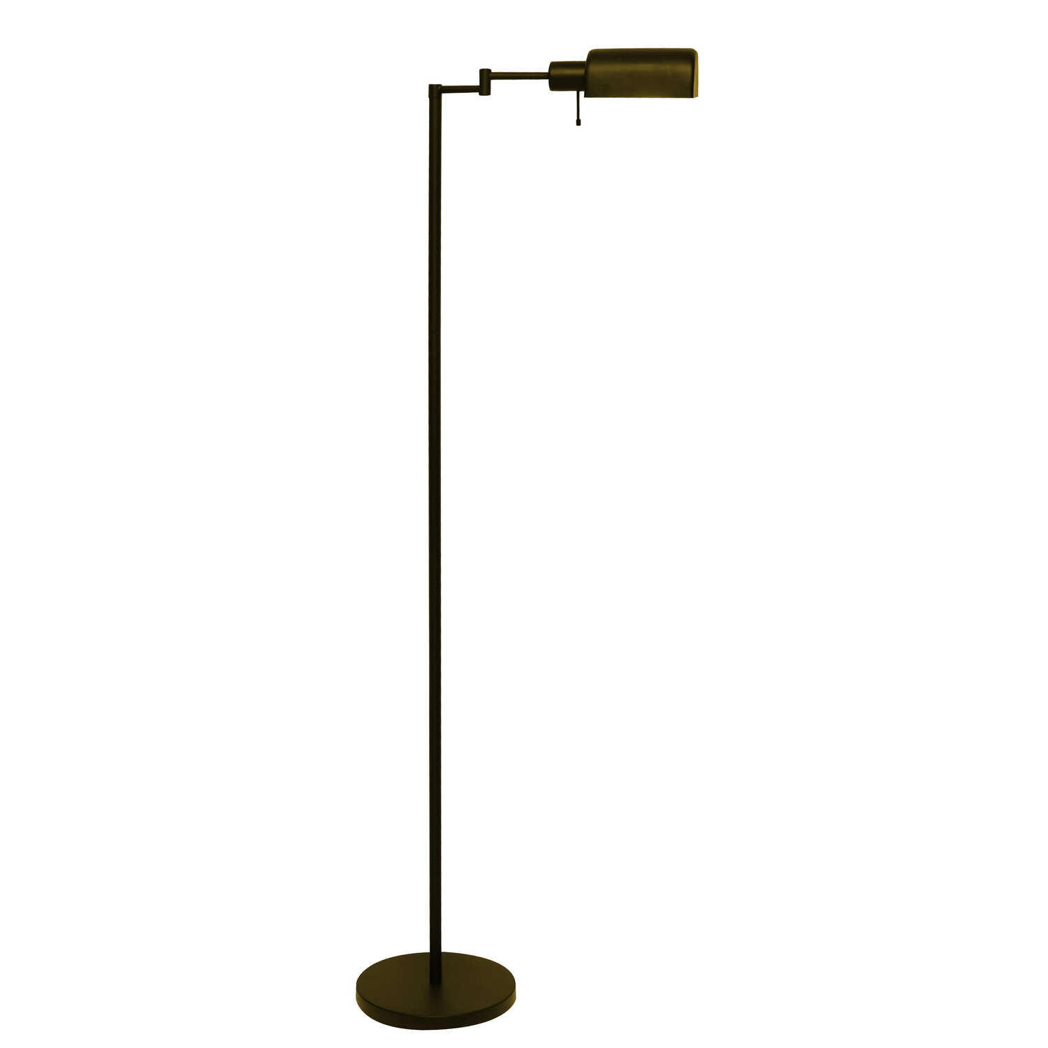 Living Accents  58 in. Oil-Rubbed  Bronze  Torchiere Floor Lamp