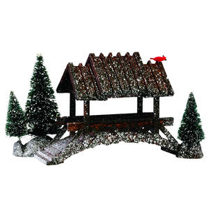 Lemax  Covered Bridge  Village Accessory  Multicolor  Schefflera Wood  4.21 in. 1 each