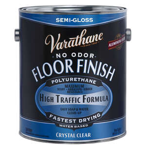 Varathane  Crystal Clear Floor Finish  Clear  1 gal. Floor Finish