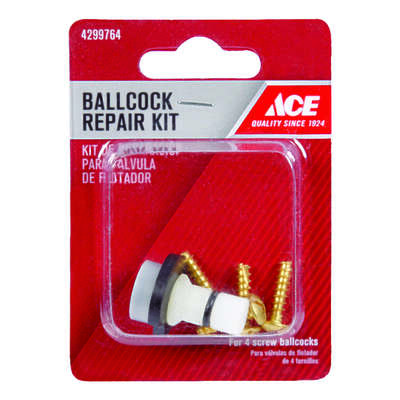 Ace  4 Screw Ballcock Repair Kit  White  Plastic