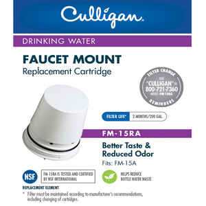 Culligan  Clear Promise  Replacement Water Filter  For Faucet Mount 200 gal.