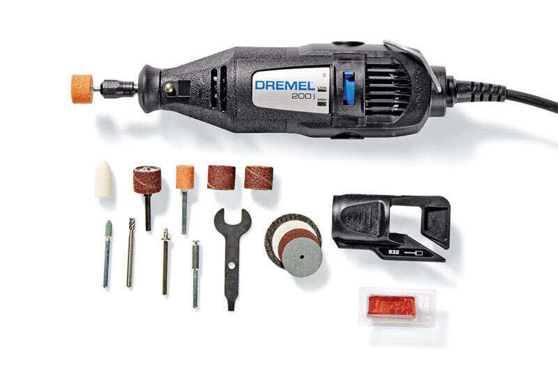 Dremel  200 Series  1/8 in. Corded  2-Speed Rotary Tool  Kit 0.9 are 120 volt 35000 rpm 15 pc.