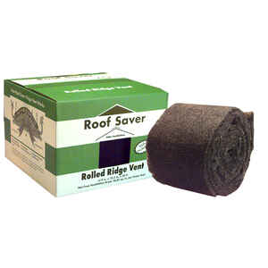 Roof Saver  0.75 in. H x 10.5 in. W x 240 in. L Fiber/Polyester  Roof Vent
