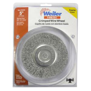 Weiler  Vortec  5 in. Crimped  Wire Wheel  Carbon Steel  3750 rpm 1 pc.