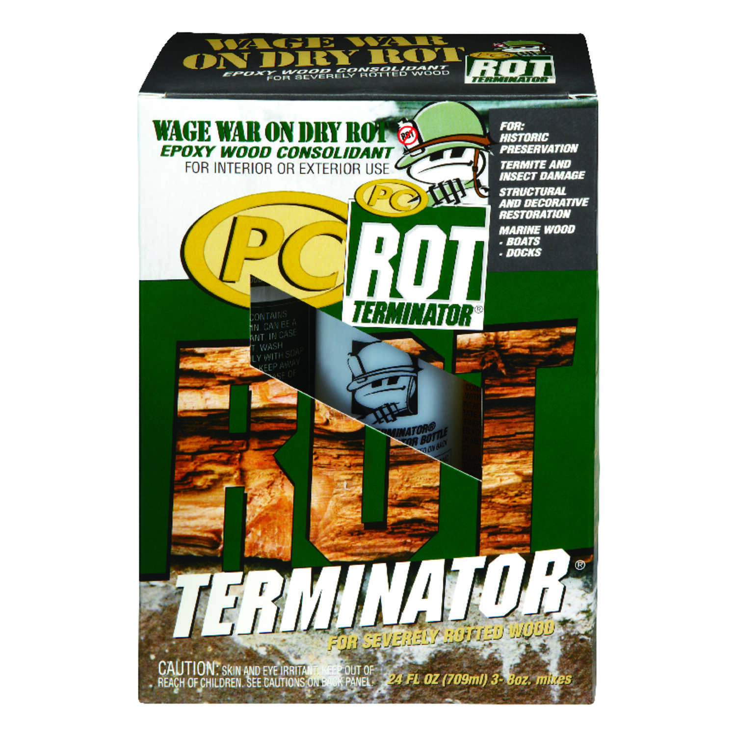 PC-Rot Terminator  Amber  Epoxy Wood Hardener  24 oz.