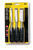 Stanley  150 Series  Forged Steel  Wood Chisel Set  Black/Yellow  3 pc.