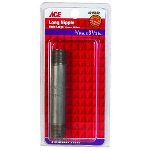 Ace  3/8 in. MIP   x 3-1/2 in. L Stainless Steel  Nipple