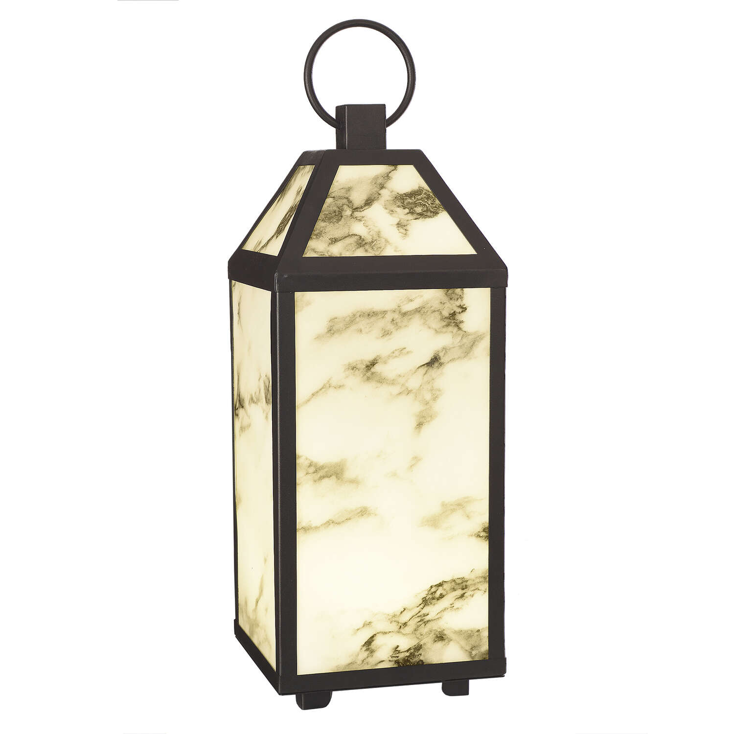 Paradise Lighting LED Plastic Flameless Lantern Black/White
