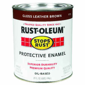Rust-Oleum  Indoor and Outdoor  Gloss  Leather Brown  Protective Enamel  1 qt.