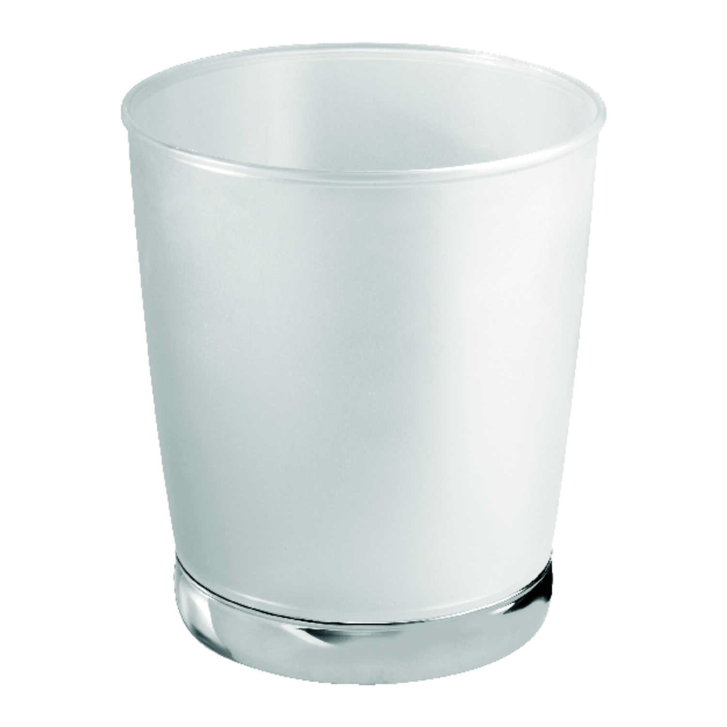 InterDesign  2.4 gal. Clear  York  Wastebasket