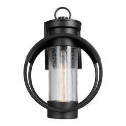 Globe Electric  Balvin  1-Light  Matte  Black  Vintage  Wall Sconce
