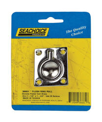 Seachoice  Chrome-Plated  Brass  1-1/2 in. L x 1-3/4 in. W Flush Ring Pull  1 pk