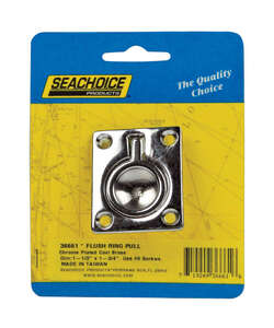 Seachoice  Chrome  Brass  1-3/4 in. W x 1-1/2 in. L 1 pc. Flush Ring Pull