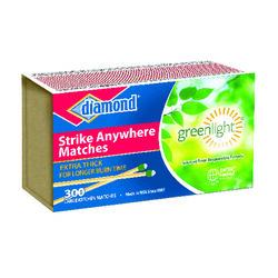 Diamond  4.8 in. L Strike Anywhere Matches  300 pc.