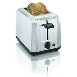 Hamilton Beach  Metal  Silver  2 slot Toaster  7.48 in. H x 7.48 in. W x 11.3 in. D