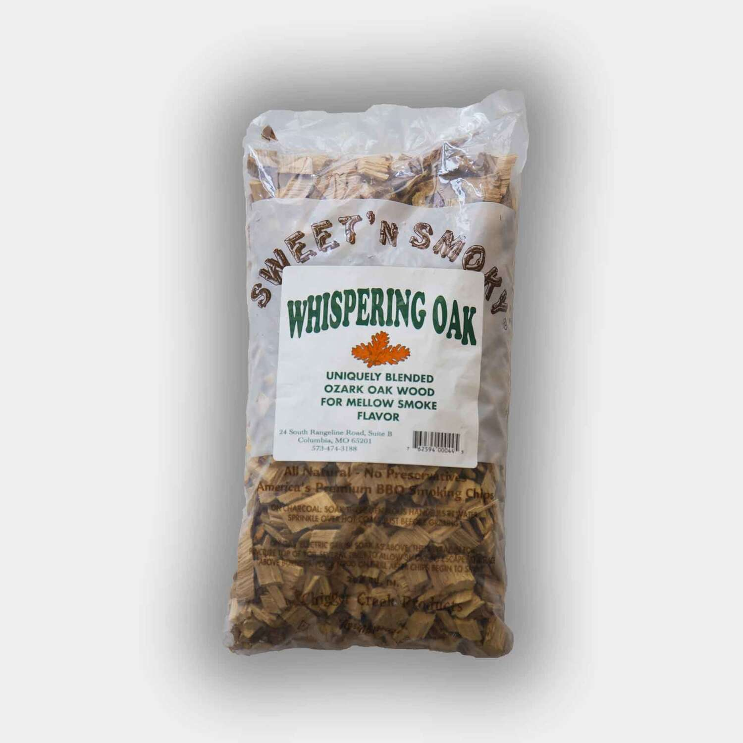 Chigger Creek  Sweet' N Smoky  Whispering Oak  Wood Smoking Chips  200 cu. in.