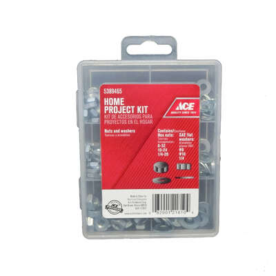 Ace  Steel  Assorted Sizes Nut and Washer Kit  177 pk