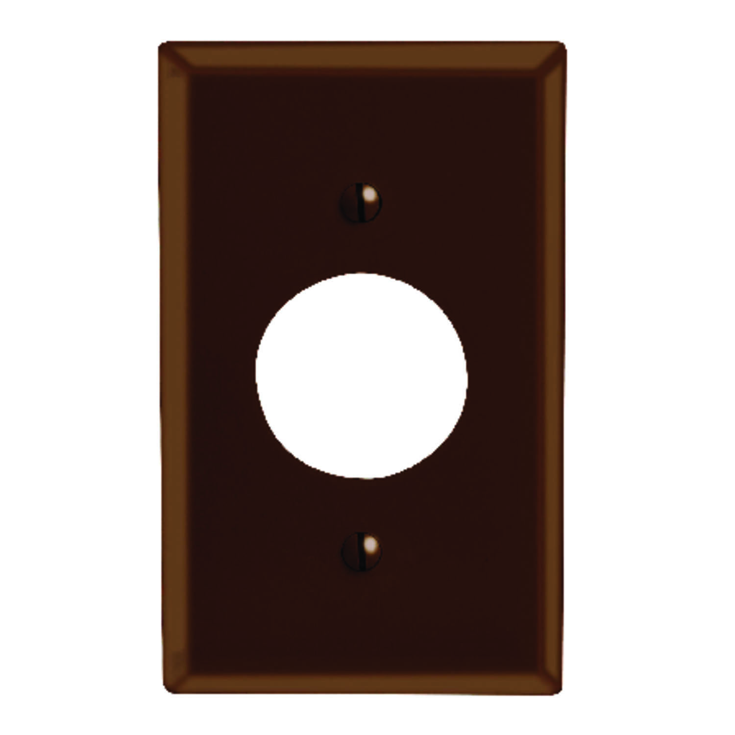 Leviton  Brown  1 gang Plastic  Outlet  Wall Plate  1 pk