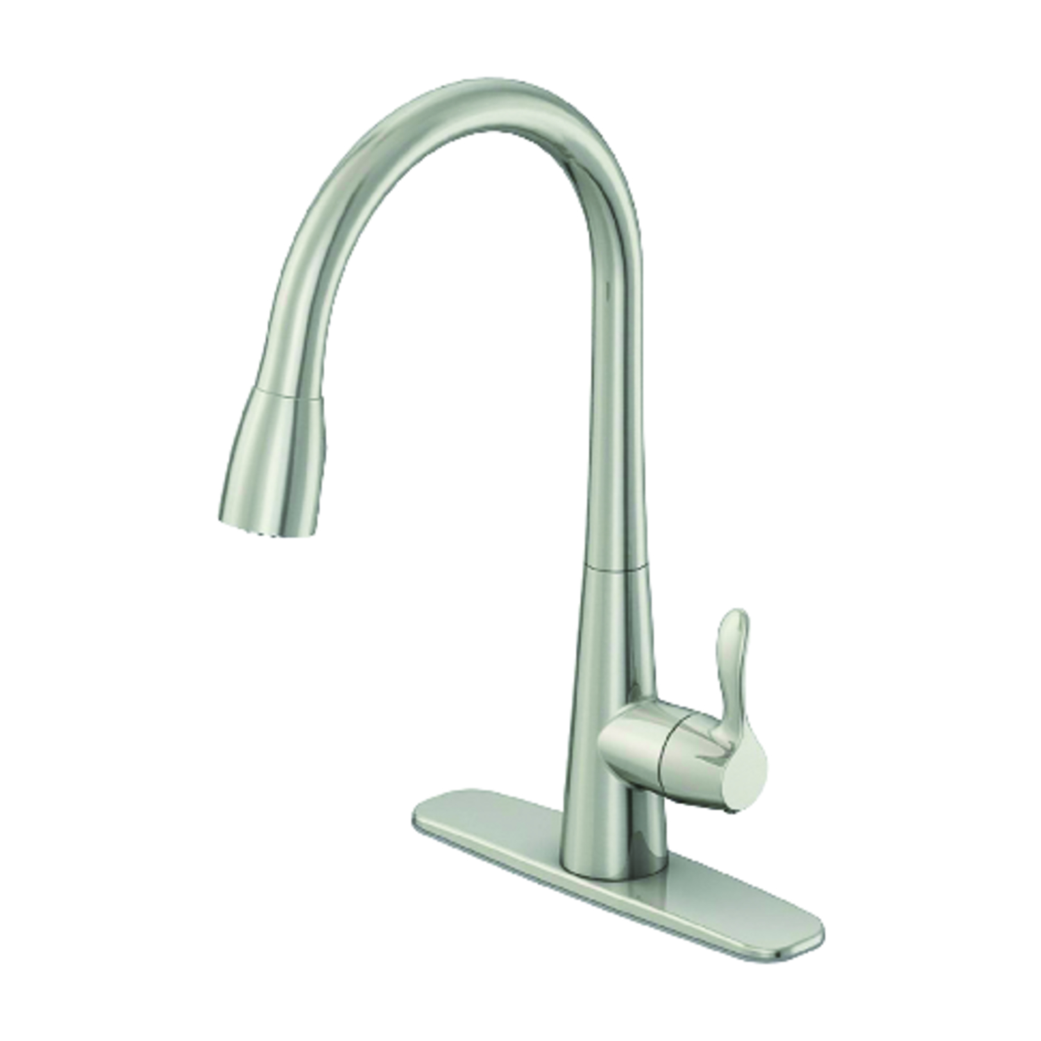 OakBrook Vela Pull-Down One Handle Brushed Nickel Kitchen Faucet ...