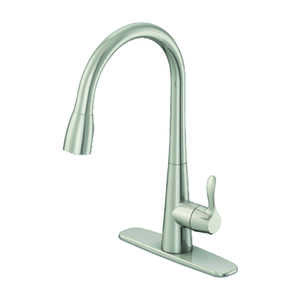 OakBrook  Vela  Pull-Down  One Handle  Brushed Nickel  Kitchen Faucet