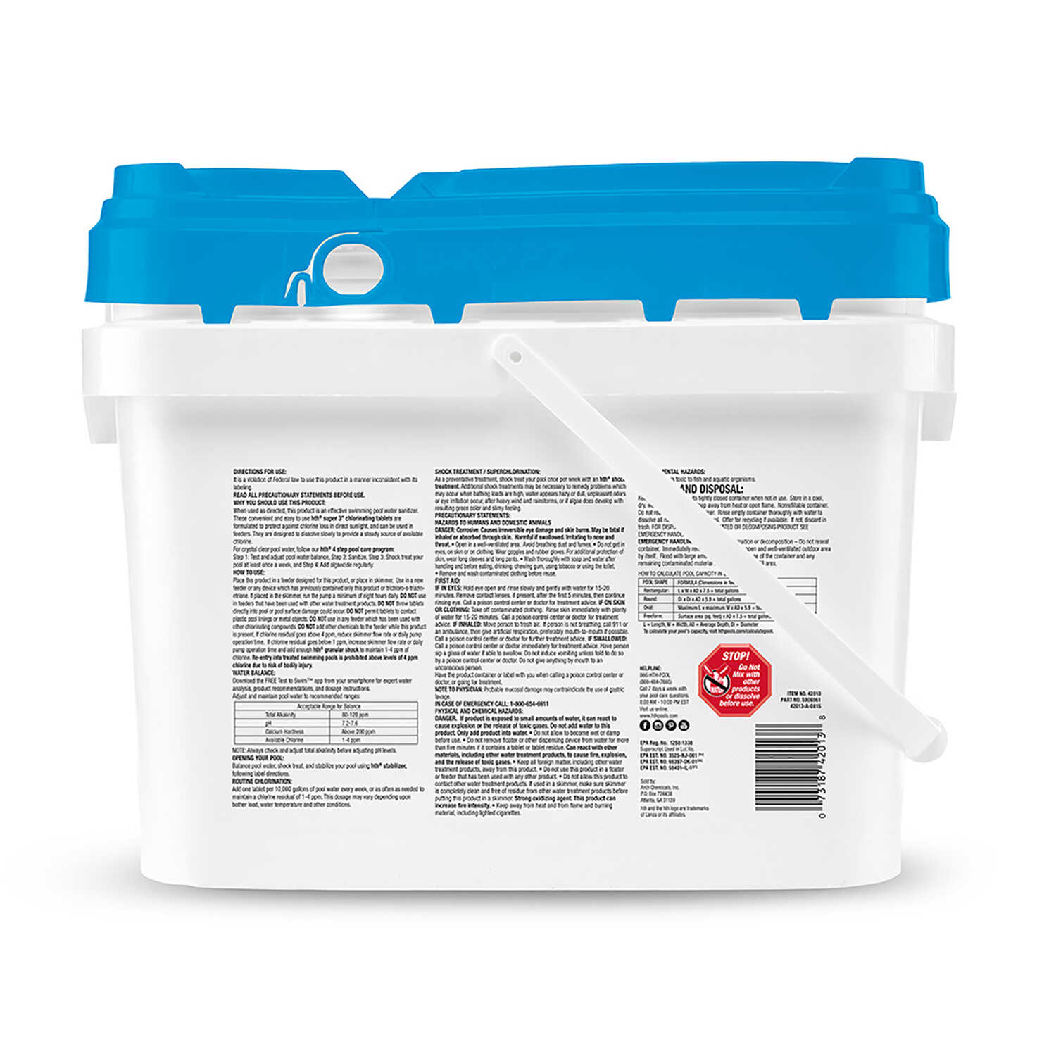 hth  Super  Tablet  Chlorinating Chemicals  25 lb.