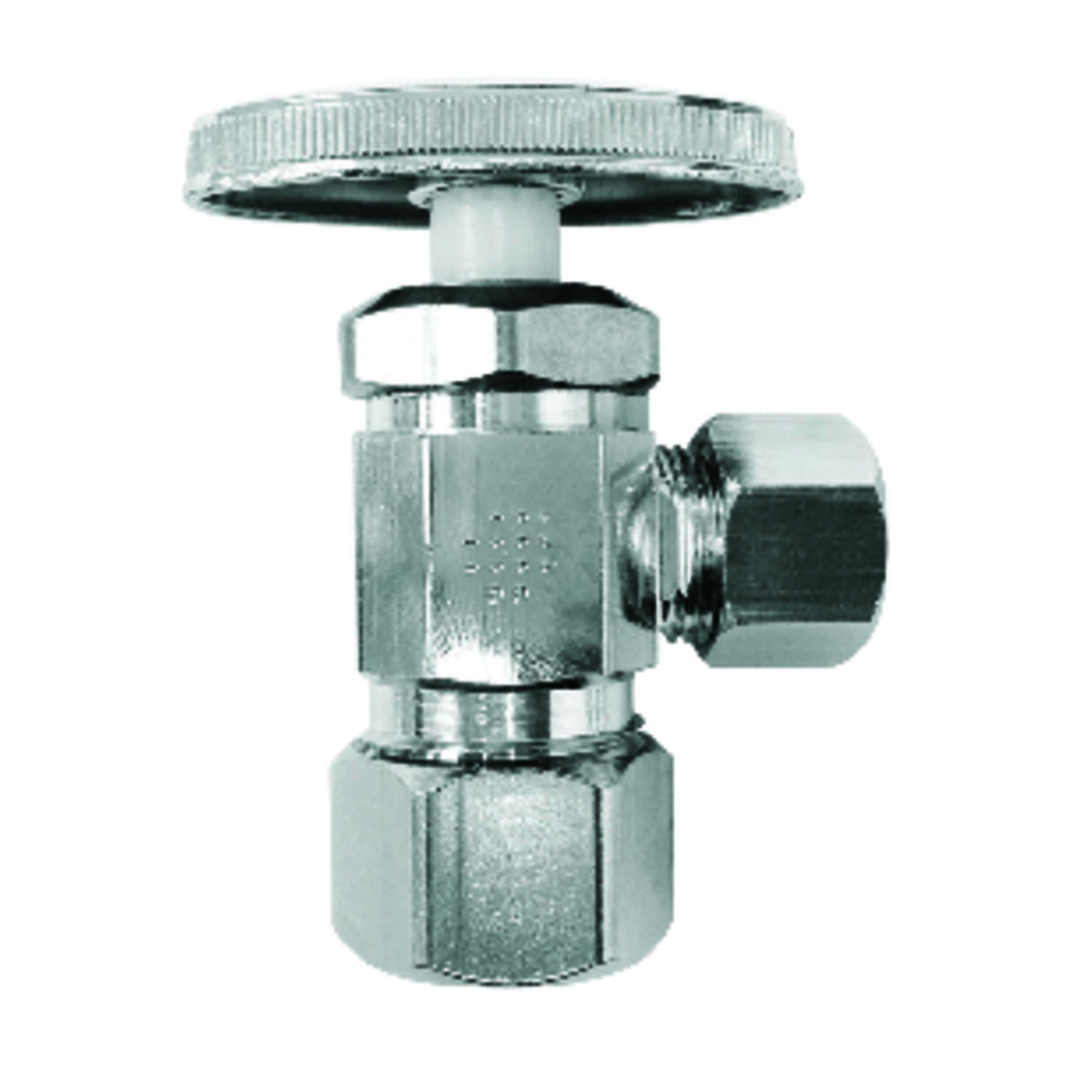 Ace  5/8 in. Compression   x 3/8 in. Dia. Compression  Brass  Multiturn  Shut-Off Valve