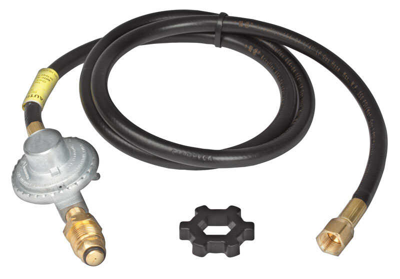 Mr. Heater  3/8 in. Dia. x 12 ft. L Brass/Plastic  Hose Assembly And Regulator