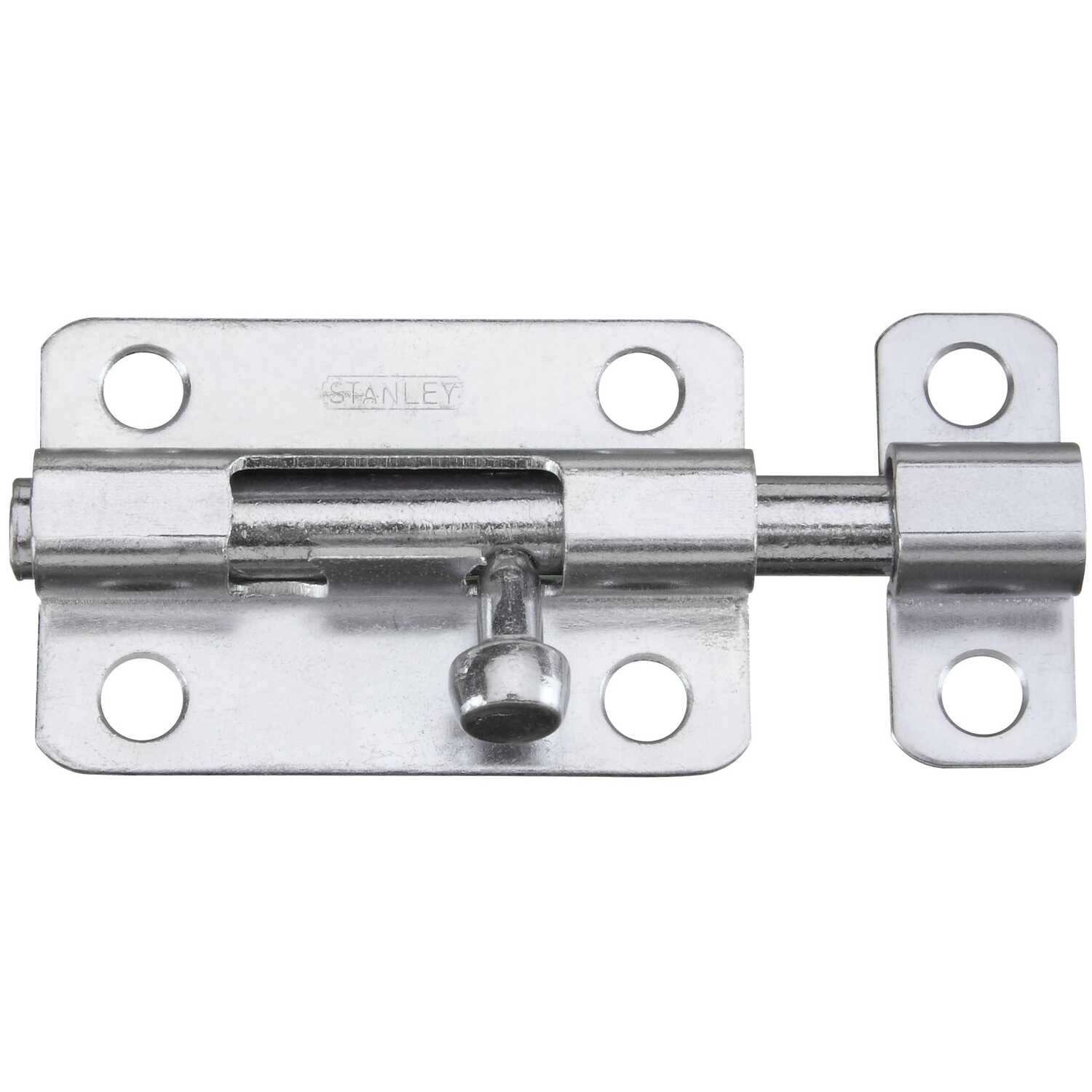 Stanley Hardware  3 in. L Zinc-Plated  Steel  1  Barrel Bolt