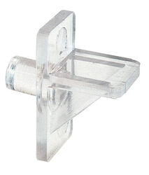 Prime-Line  Clear  Plastic  Shelf Support Peg  1/4 inch Ga. 1.050 in. L