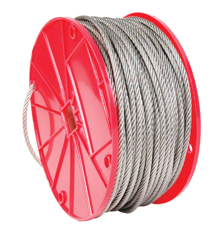 Campbell Chain  Electro-Polish  Stainless Steel  3/32 in. Dia. x 250 ft. L Cable