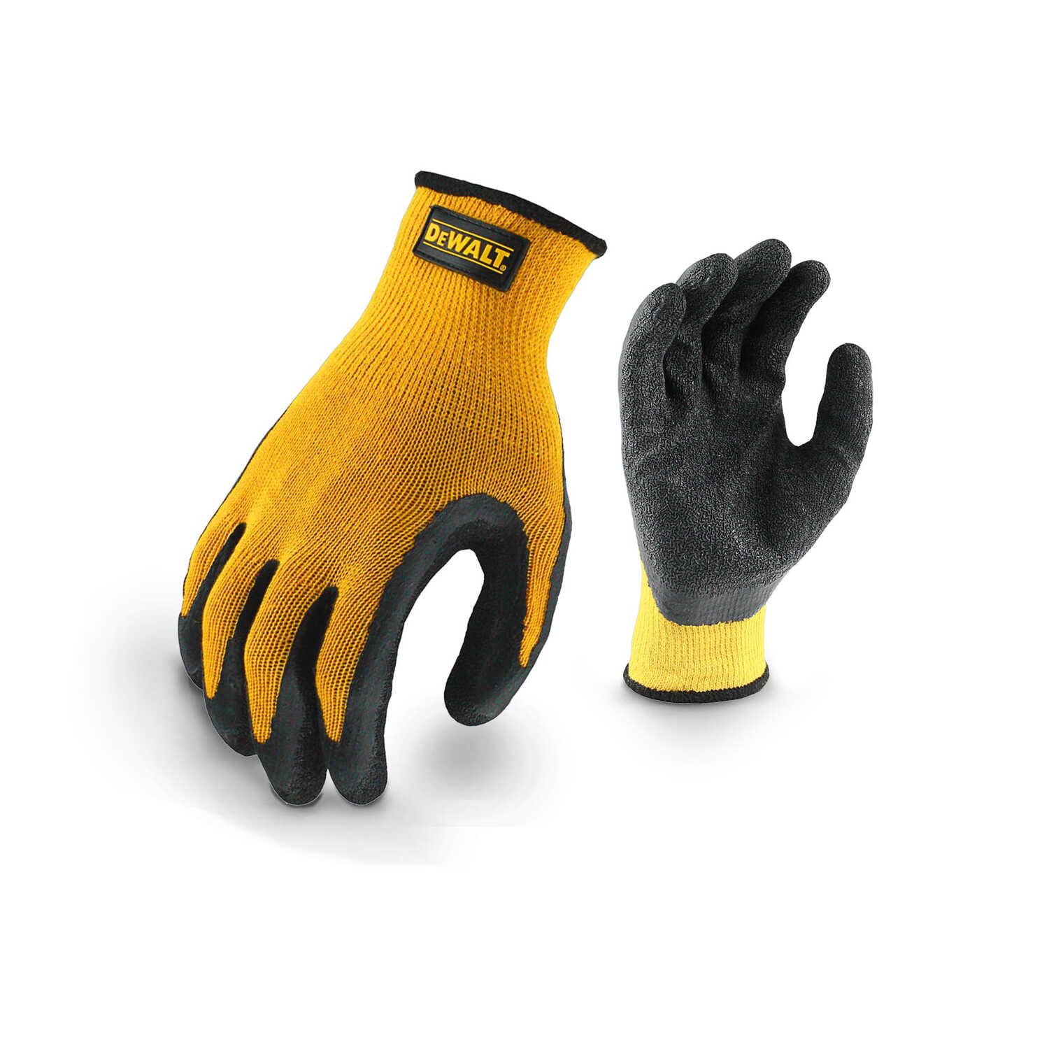 DeWalt  Radians  Unisex  Rubber  Grip  Gloves  Black/Yellow  L