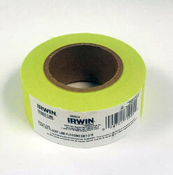 Irwin  Strait-Line  150 ft. L x 1-3/16 in. W PVC  Flagging Tape  Glo Lime