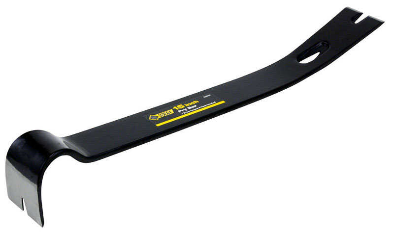 Steel Grip  15 in. L x 1-3/4 in. W High Carbon Steel  Pry Bar  Black  1 pc.