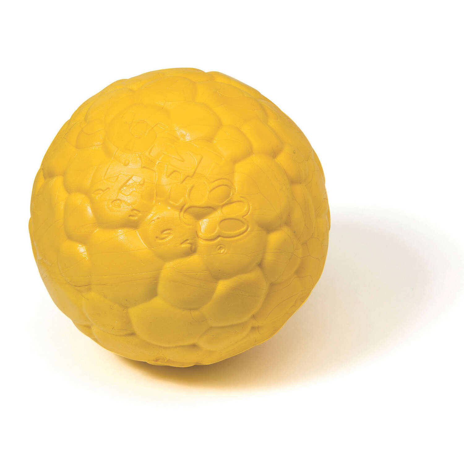 West Paw  Zogoflex Air  Yellow  Boz Ball  Ball Dog Toy  Medium  Synthetic Rubber