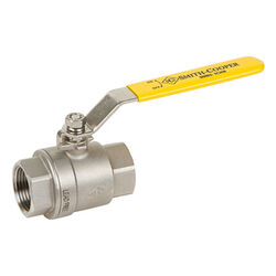 Smith Cooper  3/8 in. Stainless Steel  FIP  Ball Valve  Full Port